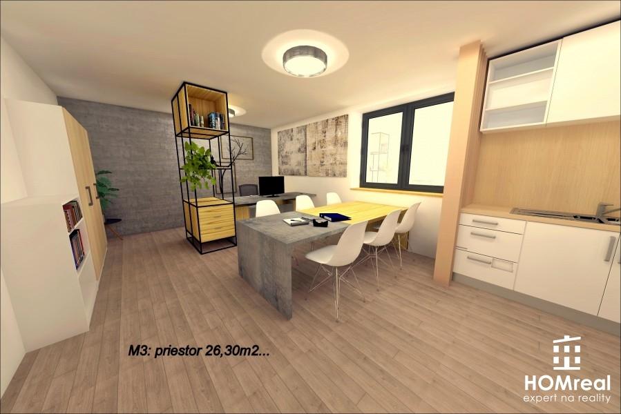 Ponúkame vám kanceláriu / priestor 26,30m2 na prenájom v novej polyfunkčnej budove v Cíferi